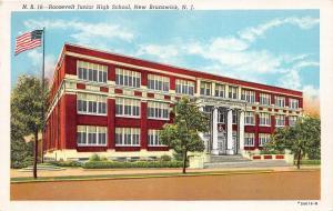 New Brunswick New Jersey~Roosevelt Junior High School~Ionic Columns @ Door~1947