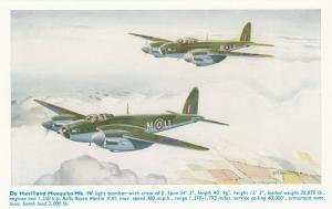 De Havilland Mosquito Mk IV Airplane , 40-50s ; Artist A.F.D.BANNISTER