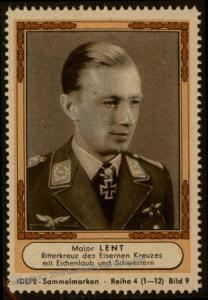 3rd Reich Germany IDEPE Major Lent Ritterkreuz Knights Cross Stamp 77253