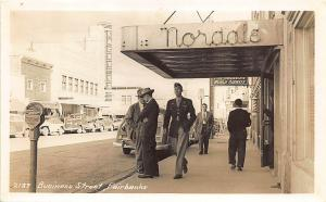 Fairbanks AK Business Street Store Fronts Nordale Old Cars RPPC Postcard