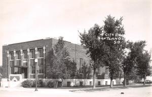 Scotland South Dakota~City Hall~1940s Real Photo Postcard~RPPC