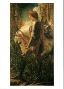 postcard - art - Sir Galahad by George Frederick Watts