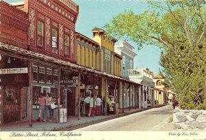 Sutter Street Scene FOLSOM, CA Gold Rush Town c1970s Continental Postcard