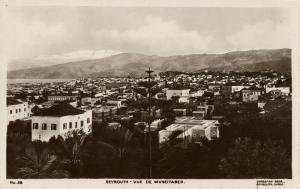 lebanon, BEIRUT BEYROUTH, View of Mousseitbeh (1920s) Sarrafian RPPC
