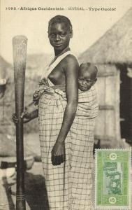 west africa, SENEGAL, Native Girl Child Ouolof Wolof Tribe (1920s) Fortier 1093
