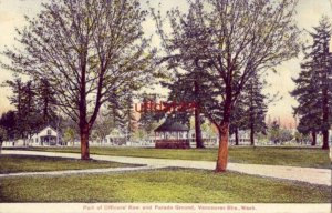 PART OF OFFICERS' ROW AND PARADE GROUNDS, VANCOUVER BARRACKS, WA 1910
