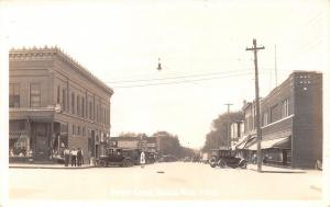 Osakis MN Old Corner Rexall Drugs~RPPC Vintage 1925 Cars~Sue Ford Dealer RPPC