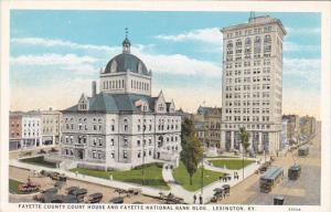 Kentucky Lexington Faytette Count Court House and Fayette National Bank Build...