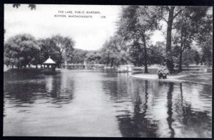 Massachusetts BOSTON The Lake, Public Gardens Pub American Art Post Card Co. DB