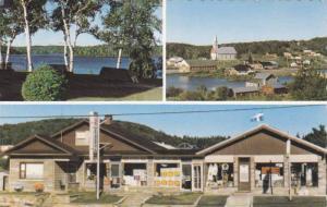 Sounvenir Entrelacs (St. Emile) Moncalm, Vue du Village & du Lac Des Iles, Qu...
