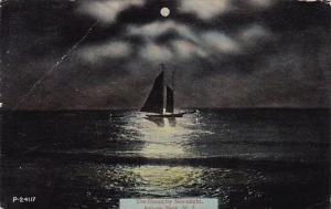 The Ocean By Moonlight Asbury Park New Jersey 1917