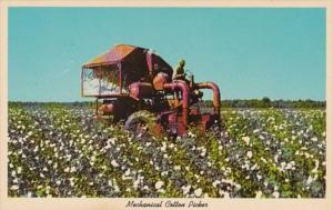 Mechanical Cotton Picker In The Southland