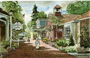 Watercolor of Milleridge Inn - Jericho, Long Island, New York - a/s Cyril Lewis