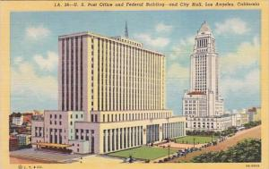 U S Post Office And Federal Building And City Hall Los Angeles California