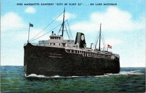 Lake Michigan Car Ferry Pere Marquette City of Flint - POSTCARD - VINTAGE - PC