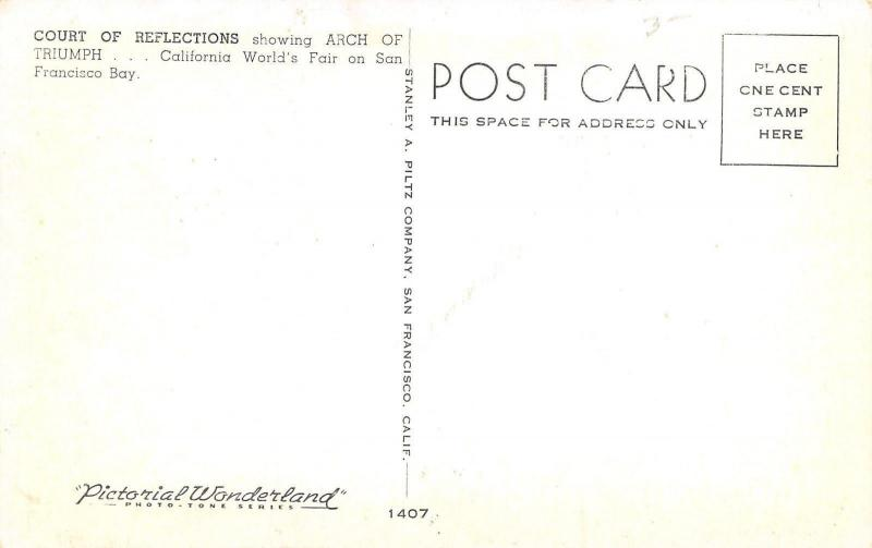 San Francisco~California World's Fair~Court of Reflections~Stanley A Piltz~1939