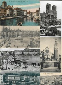 France - Annecy Nancy Reims Paris and More Lot of 20 Postcards 01.08