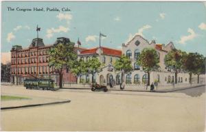 Street view showing The Congress Hotel, Pueblo, Colorado, 00-10s