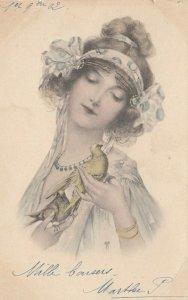 M.M. VIENNE : Female Head Portrait (Art Nouveau) , PU-1902 ; #8