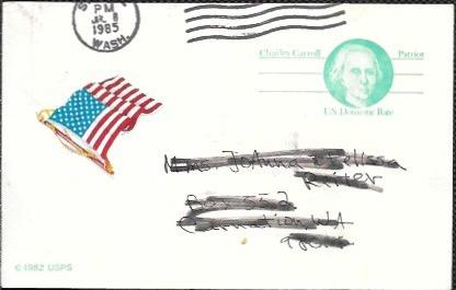 US UX10 Used. Charles Carroll - Patriot.  US Domestic Rate.