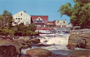 the final plunge to the sea. THE MEGUNTICOOK RIVER, THE FALLS AT CAMDEN, ME