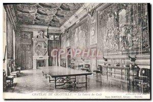 Old Postcard Chateu De Chantilly Galerie Des Cerfs