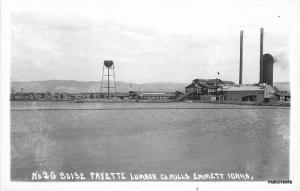 1940s Logging Industry Boise Payette Lumber Emmett RPPC Real Photo 8166