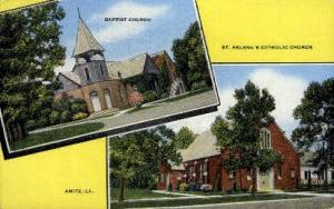 Baptist Church & St. Helena's Catholic Church Amite LA Unused