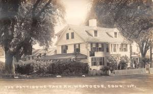 Weatogue (Simsbury) Connecticut~The Pettibone Tavern~Picket Fence~RPPC c1910 PC