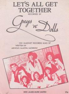 Lets All Get Together Guys n Dolls 1970s Sheet Music