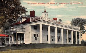 Mount Vernon, the Home of Washington, Mount Vernon, VA,  Early Postcard, unused