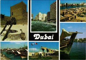 PC CPA U.A.E. , DUBAI, SCENES FROM DUBAI, REAL PHOTO POSTCARD (b16371)