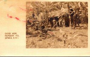 Jamaica Falmouth Good Hope Native Hut 1938 Real Photo