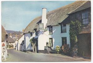 Somerset; The Ship Inn, Porlock PPC, By Dixon, c 1960's