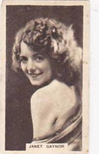 Abdulla Vintage Cigarette Card Cinema Stars Brown Back No 13 Janet Gaynor  1932
