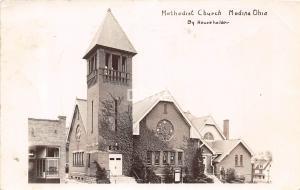 Ohio Postcard Real Photo RPPC 1950 MEDINA Methodist Church Building