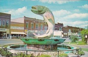 Michigan Kalkaska National Trout Memorial Fountain Fisherman Shrine