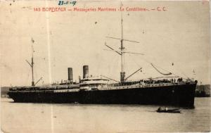CPA Bordeaux- Messageries Maritimes 'Le Cordilliére', SHIPS (762722)