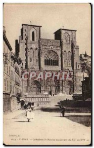 Vienna Old Postcard Cathedrale St Maurice (built from 12th to 16th)