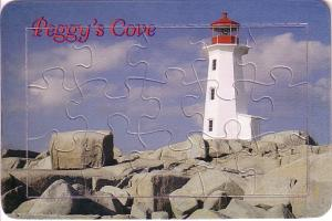 Jigsaw Puzzle Postcard Peggy's Cove Lighthouse, Nova Scotia
