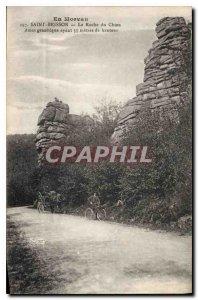 In Old Postcard Morvan Saint Brisson La Roche Dog Velo Cycle