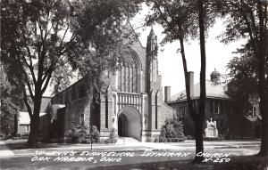 Oak Harbor OH St Johns Evangelical Lutheran Church~Real Photo Postcard RPPC 1951
