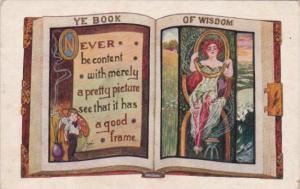 Motto Card Ye Book Of Wisodm