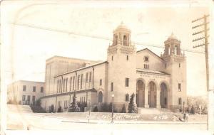 Big Spring Texas~Municipal Auditorium~Family on Sidewalk~1941 Real Photo~RPPC