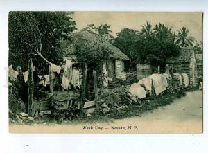 203380 Bahamas NASSAU Wash Day Vintage postcard