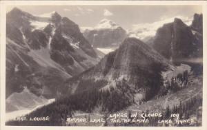RP; LAKE LOUISE, Lakes In clouds, Mirror Lake, Lake Agnes, 1924-1949