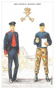 Postcard The British Army Series No.78 Army Physical Training Corps Geoff White