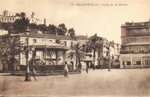 Algeria Postcard Philippeville, Place de la Marine, Place of the Navy DG5