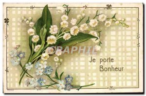 Old Postcard Fantasy Flowers Lily of the valley