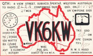 QSL ; Subiaco (Perth) , Western Australia , 1948